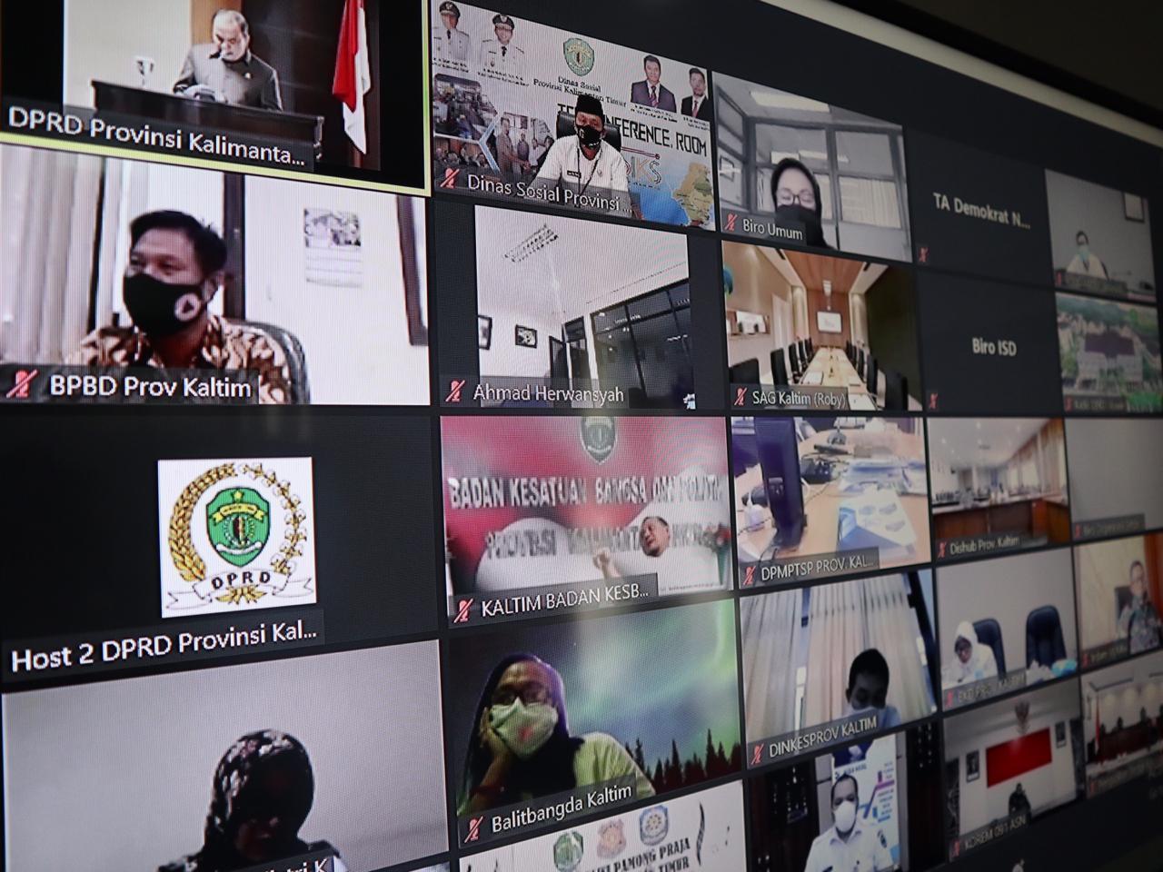 Kadis Sosial Ikuti Rapat Paripurna ke -14 DPRD Kaltim