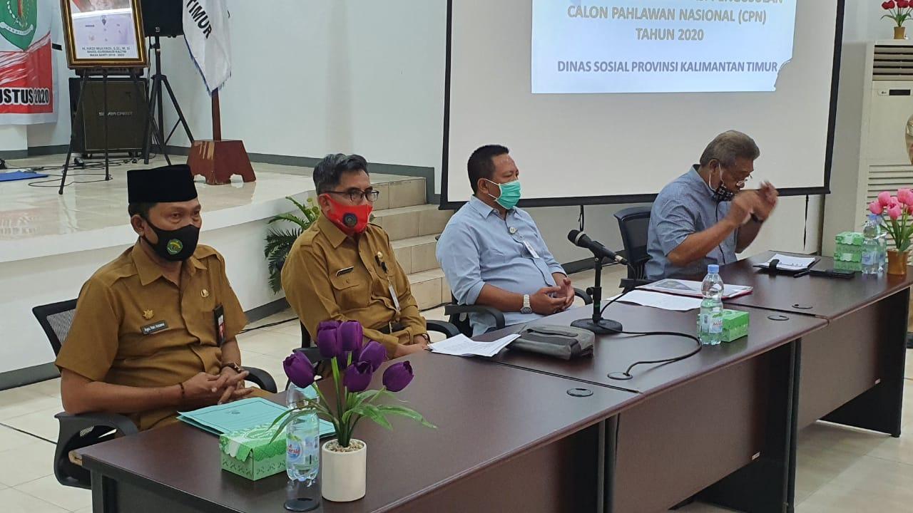 Dinsos Kaltim Gelar kegiatan Koordinasi dan Konsultasi Pengusulan Gelar Pahlawan Nasional